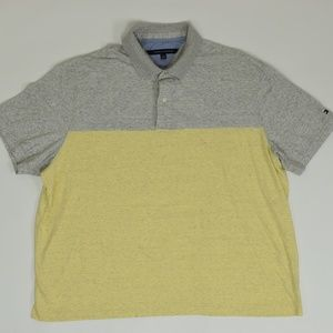Tommy Hilfiger Big & Tall 3XL Gray/Yellow   Polo C